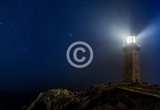 Phare de Port-Vendres de nuit