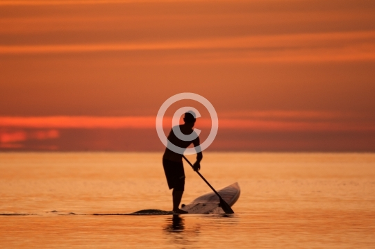 Stand up Paddle à l'aurore